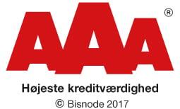 AAA Bisnode - Højeste kreditværdighed