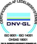 DNVGL ISO 9001, ISO 14001 og OHSAS 18001