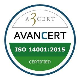 ISO 14001:2015 certificeret