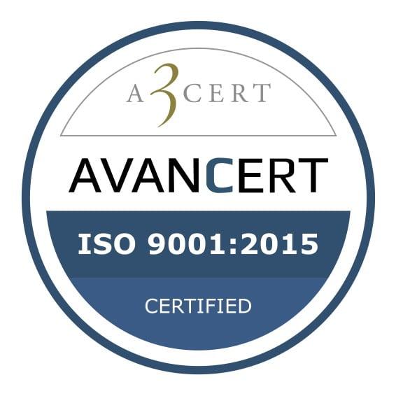 ISO 9001:2015 certificeret